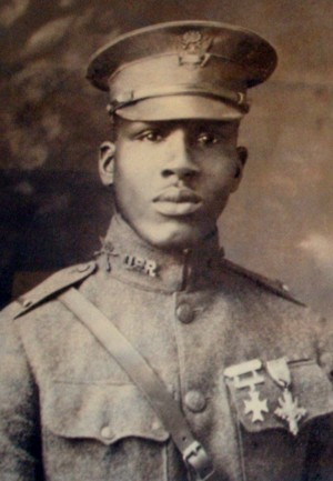 Aaron R. Fisher of Lyles Indiana_a U.S. soldier who fought in France during WW1 and was awarded the Croix de Guerre for his role in a battle against the Germans on September 3rd 1918