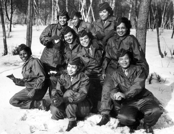 February 1945_members of the Black American Womens Army Corps