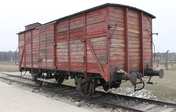 Near Krakow Poland_a boxcar at the former Auschwitz site_photo from 2013
