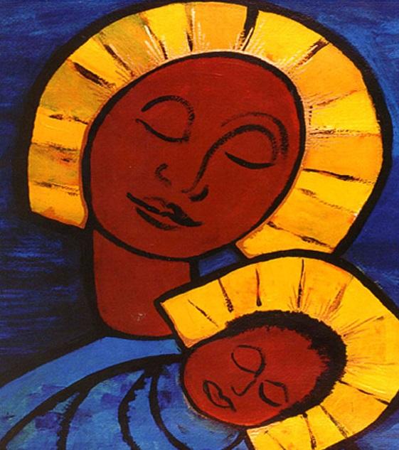 Madre María y el Bebé Jesús