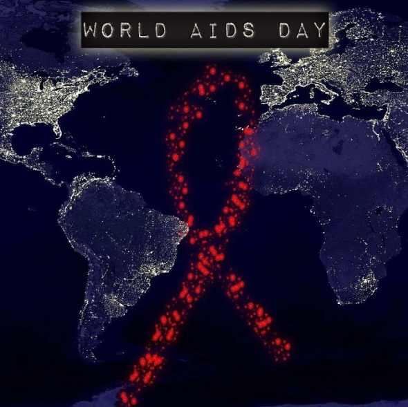 World AIDS Day poster from a United Methodist congregation in Seattle Washington USA