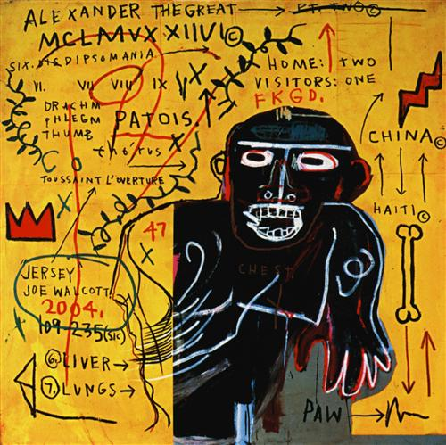 All Colored Cast Part 3 by Jean-Michel Basquiat_1982_acrylic paint and crayon on canvas