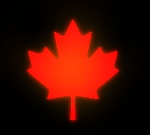 Canada red maple leaf on black background