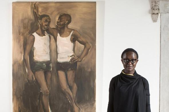 Lynette Yiadom-Boakye at the Venice Biennale in 2013_photograph by David Levene
