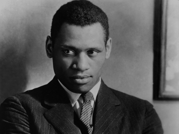 Paul Robeson (1898-1976), photographed about 1924, at the time he was starring in Eugene ONeill's All God's Chillun Got Wings