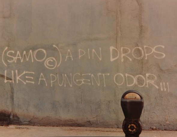 SAMO graffiti photographed by Henry Flynt in 1979