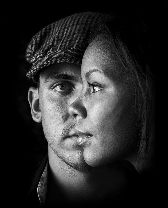 Double portrait in black and white © Cory Smith
