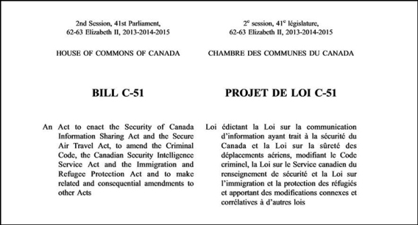 Canada's Federal Government's proposed Bill C-51_Opening paragraphs
