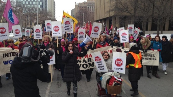 Toronto's International Women's Day march, 2015