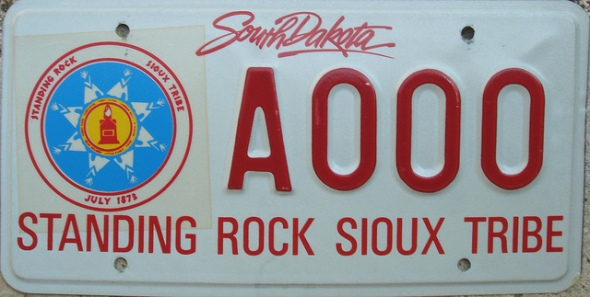 Standing Rock Sioux Tribe South Dakota licence plate