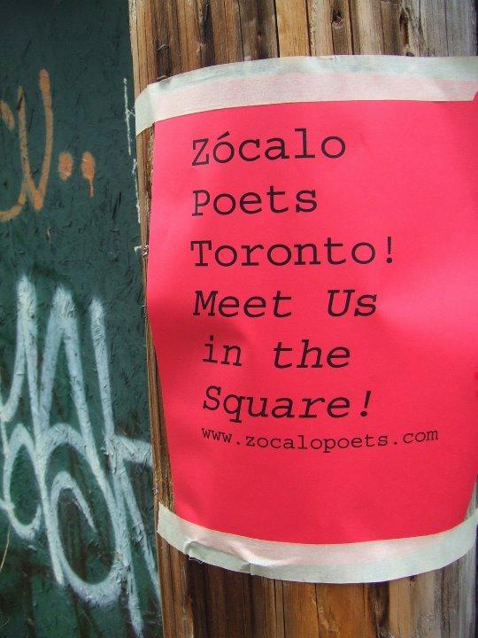 Zócalo Poets en Toronto... muchas lenguas...un lugar