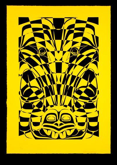 El Cuervo Grande Roba La Luz_Raven Steals The Light_por John Brent Bennett_artista de la Nación Haida Gwaii_Canadá