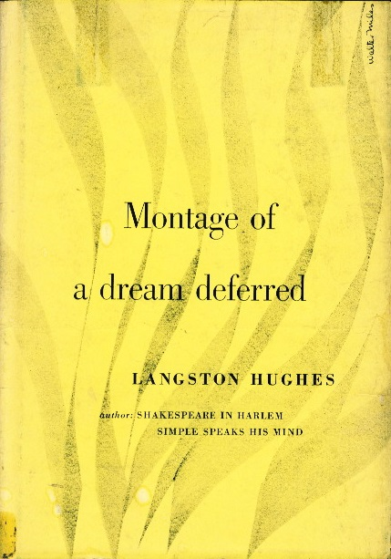 langston hughes zocalo poets 1951 book cover for montage of a dream deferred by langston hughes