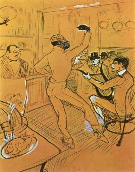 Henri de Toulouse Lautrec_dessin de 1896_Le clown negre Chocolat