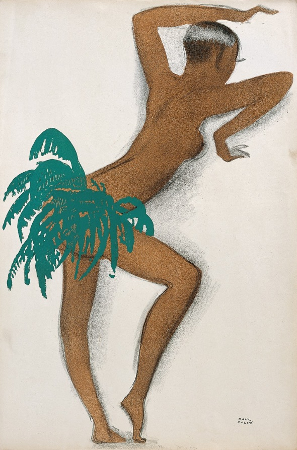 Josephine Baker_du livre Le Tumulte Noir_illustration par Paul Colin_1927