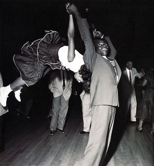 Swing era dancers and their athletic moves...
