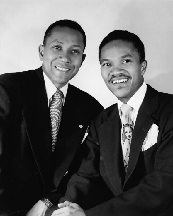 The Nicholas Brothers_pictured here in the 1940s_Audacious athletic elegant tapdancers