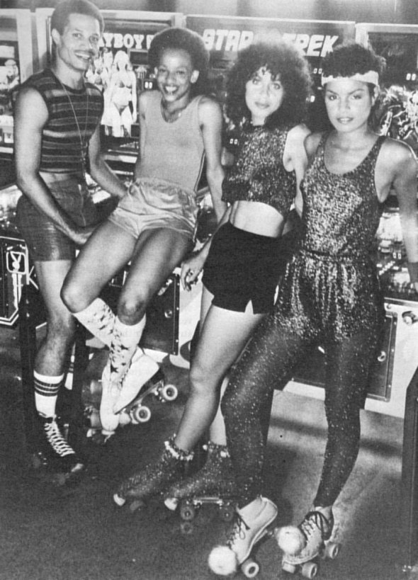 A happy quartet from the late 1970s when Roller Boogie or Disco was at its peak popularity