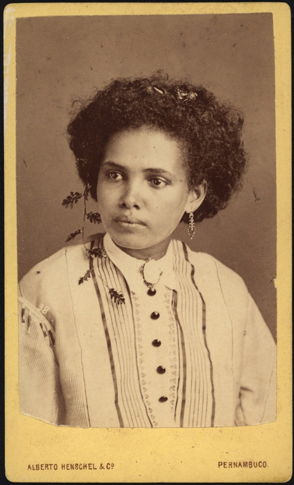 Alberto Henschel_Moça cafusa (Girl of mixed Negro and Indian blood)_Pernambuco_1869