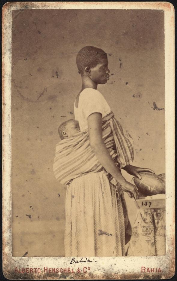 Alberto Henschel_Negra com criança na Bahia_c. 1869_Salvador, Bahia