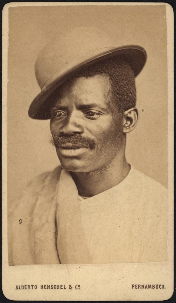 Alberto Henschel_portrait from Black Types_around 1869 in Brazil
