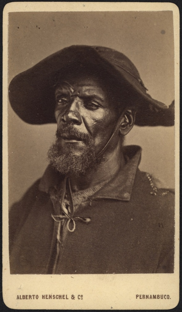 Alberto Henschel_portrait of a middle-aged man with hat_from the series Tipos negros_around 1869