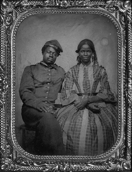 Black American couple_probably 1860s