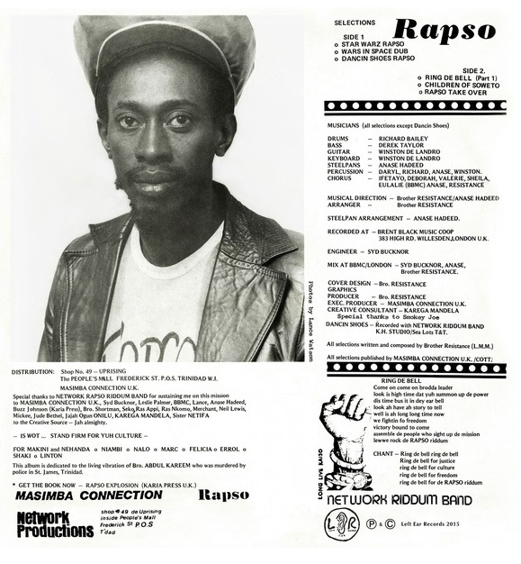 Roy Lewis a.k.a. Brother Resistance_Rapso practitioner from Trinidad