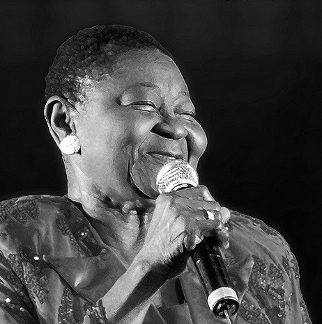 Calypso Rose_born 1940 in Tobago_painted photograph copyright Jean Pierre Jeannin_2009