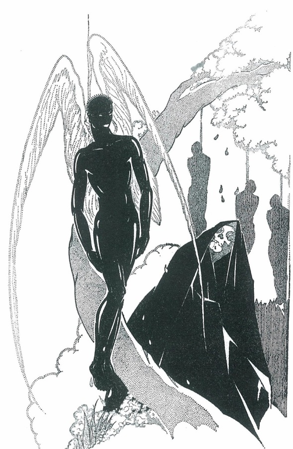 Illustration from 1929 by Charles Cullen for the epic poem The Black Christ written by Countee Cullen 1903 to 1946