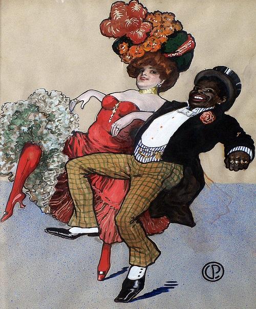 La Goulue avec le clown Chocolat nom de Rafael Padilla