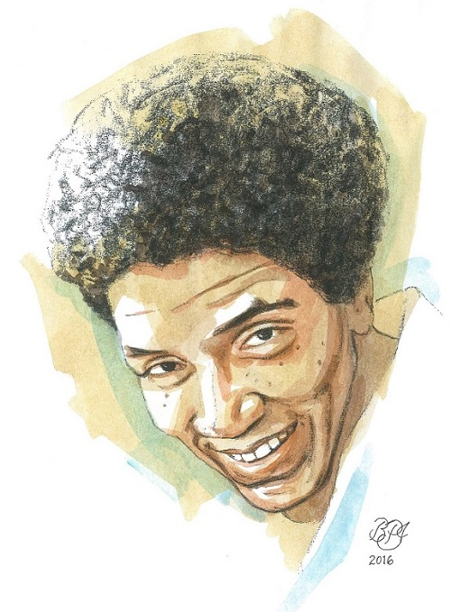 Retrato de Audre Lorde por Bruce Patrick Jones_grafito y acuarela_2016 / Portrait of Audre Lorde by Bruce Patrick Jones_graphite and watercolour_2016