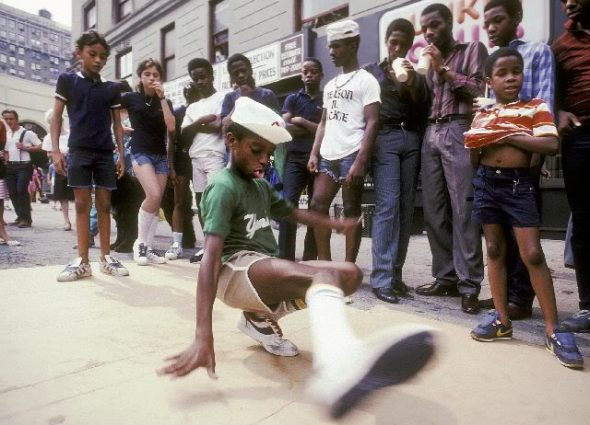 Young breakdancer during the 1980s_photograph by Martha Cooper