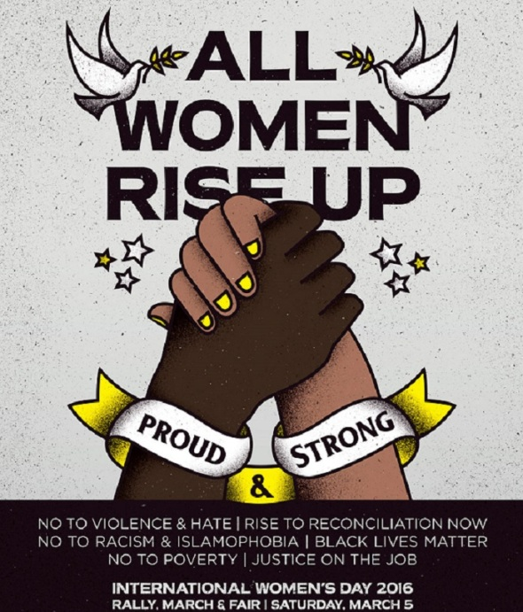 All Women Rise Up_International Womens Day Toronto Canada_Saturday March 5th 2016_POSTER