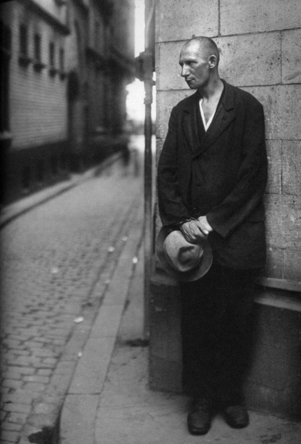 Arbeitslos_Unemployed Man_El Parado_fotografía de 1928 por August Sander
