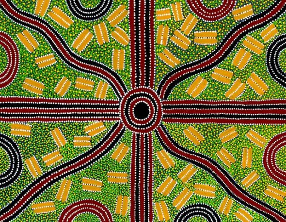 Mary Oliver_Australian Aboriginal artist_Ahakeye bush plum