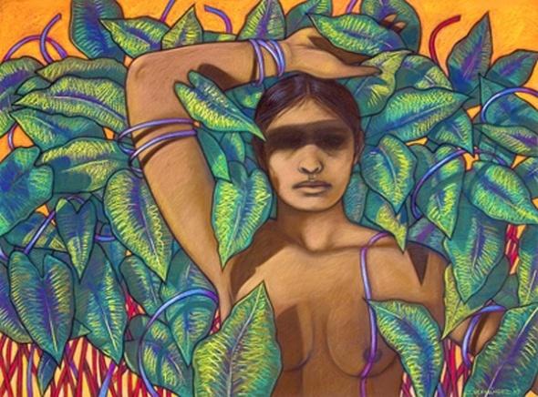 El jardín de sueños_The garden of dreams_by Chicana artist Judithe Hernández (born 1948, Los Angeles)