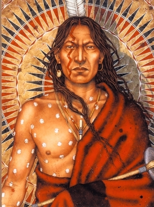 Strange Man of the Lakota_Crazy Horse around 1876_giclée print on watercolour paper_copyright Kenneth Ferguson