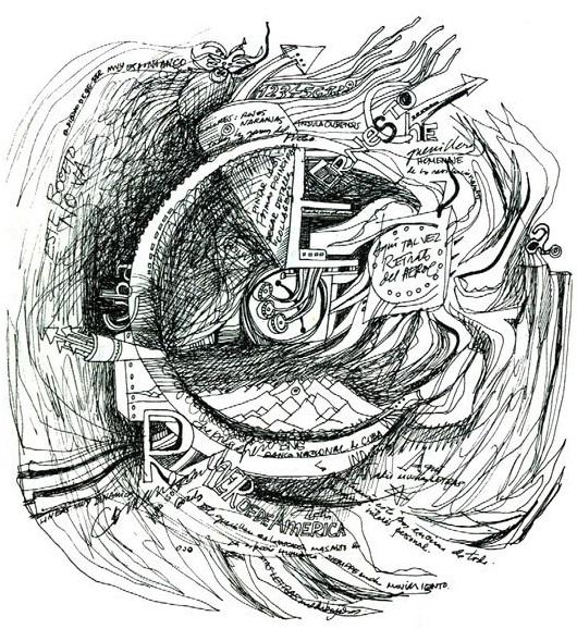 Fayad Jamís_dibujo con tinta