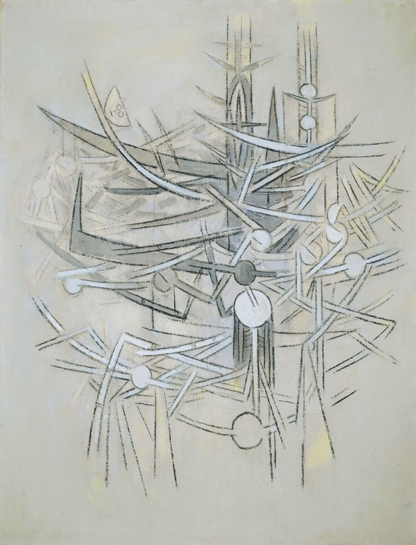 Wilfredo Lam (1902- 1982): La Barrière, or: The Barrier or The Obstacle or The Gate_oil on canvas_painted in 1964