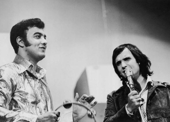 Erasmo Carlos and Roberto Carlos during the 1960s Jovem Guarda years