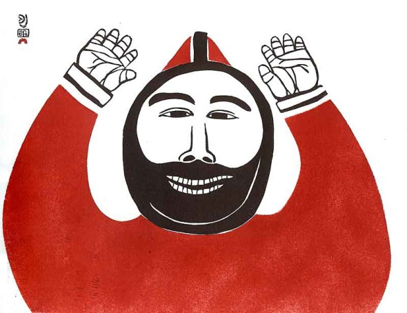 jubilosamente-miro-diez-caribu_grabado-sobre-piedra-por-artista-inuit-josephie-pootoogook_-joyfully-i-see-ten-caribou_stonecut-print-by-inuk-artist-josephie-pootoogook